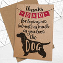 Father's Day Card For Dog Loving Dads