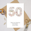 Map Location Special Age 50 Birthday Card