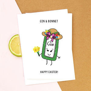 Funny Gin Easter Card