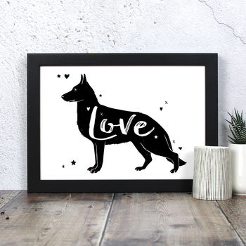 German Shepherd 'Love' Print