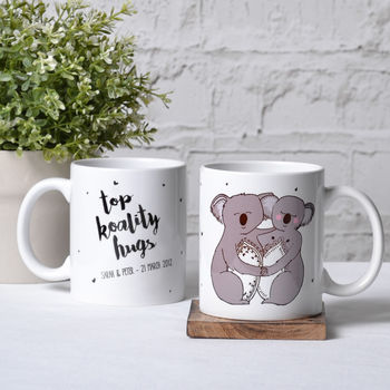 'Top Koality Hugs' Personalised Koala Mug