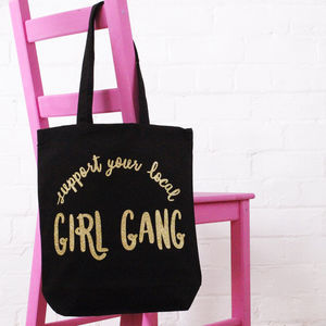 'Girl Gang' Cotton Tote Bag