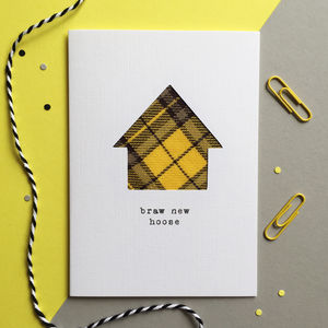'Braw New Hoose' Scottish New Home Card
