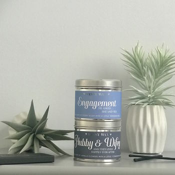 Engagement Or Wedding Soy Wax Tin Candle