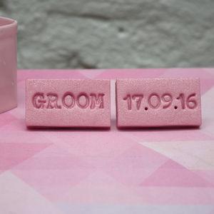 Personalised Groom Cufflinks - wedding jewellery