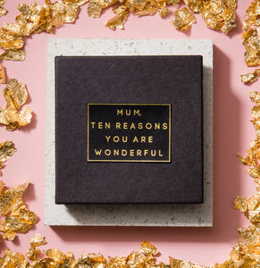 Personalised 'Mum, Ten Reasons You Are Wonderful' Box - gifts for her