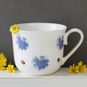 Personalised Hidden Message Botanical Bone China Cup - tableware
