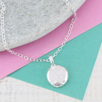 Personalised Sterling Silver Nugget Necklace