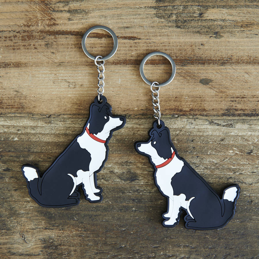 Border Collie Key Ring