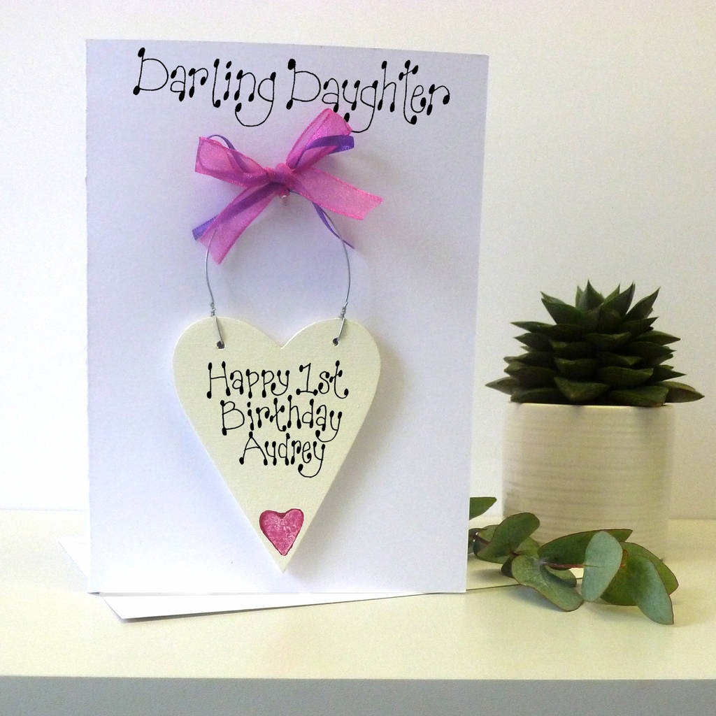 Daughter's Personalised Birthday Card By Country Heart