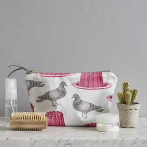 Pigeon And Jelly Cosmetic Bag