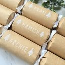 Personalised Kraft Handlettered Tree Crackers