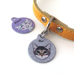 Cat ID Tag Personalised - cats