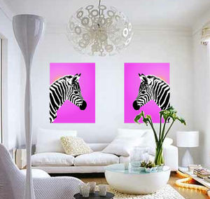 Gleaming Zebra, Canvas Art - animals & wildlife