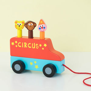Pop Up Circus Pull Along Toy - push & pull along toys