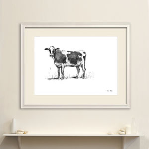 The Friendly Cow Original Art - drawings & illustrations