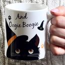 Personalised Halloween Cat Mug