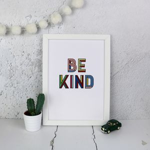Be Kind Typographic Print