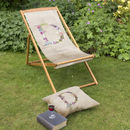 Personalised Letter Beach And Garden Deckchair