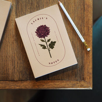 Personalised Birth Flower Notebook