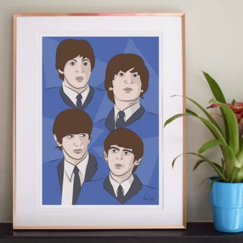 'Fab Four' Illustration Print
