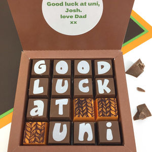 Going To Uni Personalised Message Chocolates