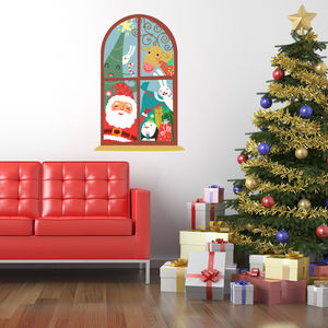 Christmas Window Childrens Wall Stickers - living room