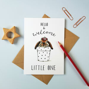 'Welcome Little One' New Baby Girl Card