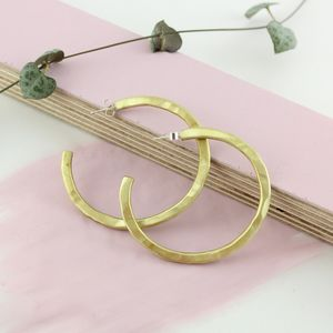 Large Handmade Uniquely Textured 'Lulla' Hoop Earrings