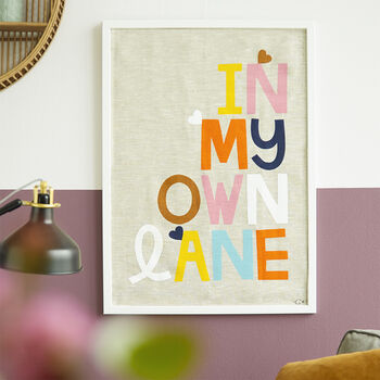 'In My Own Lane' Art Print