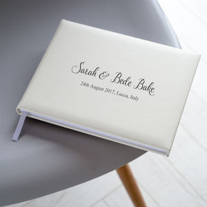 Personalised Leather Guest Book - keepsakes