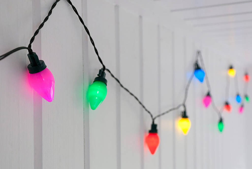 Vintage Coloured Party String Lights By I Love Retro