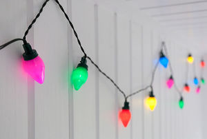 Vintage Coloured Party String Lights - decoration