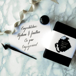 Personalised Engagement Calligraphy Kit - engagement gifts