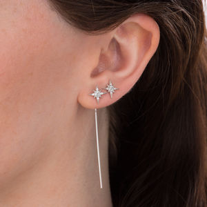 Starburst Threader Bar Earrings - shop by category