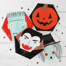 Halloween Spooky Faces Party Plates
