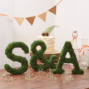 Moss Alphabet Letters And Ampersand Set - decorative letters