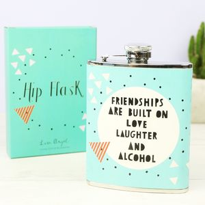 Geometric 'Friendships' Hip Flask