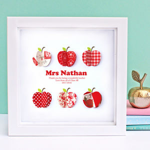 Personalised Apple Thank You Teacher Gift