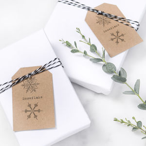 Snowflake Christmas Gift Tags - cards & wrap