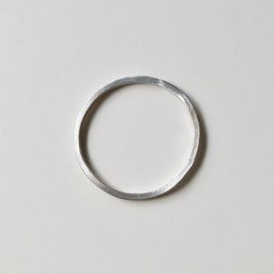 Silver Wire Innocence Ring - rings