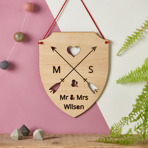 Couples Personalised Wooden Sign - sale by category