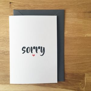 Sorry Card - sympathy & sorry cards