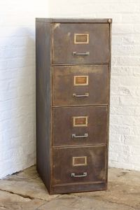 Tannery Vintage Four Drawer Filing Cabinet - furniture