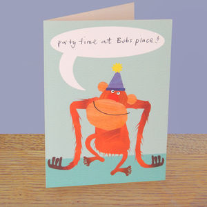 Orangutan Personalised Birthday Card