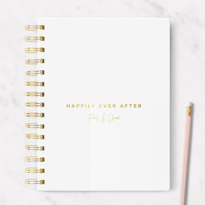 Personalised Foiled Wedding Notebook ' Happily After '