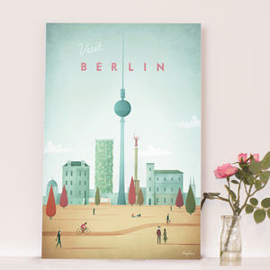 'Visit Berlin' Travel Poster - maps & locations