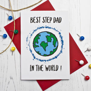 Best Step Dad In The World Card - summer sale