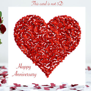 Happy Anniversary Butterfly Heart Card