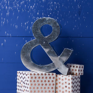 Metal Industrial Style Ampersand - home accessories